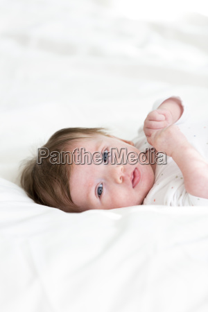 three month old cute baby with