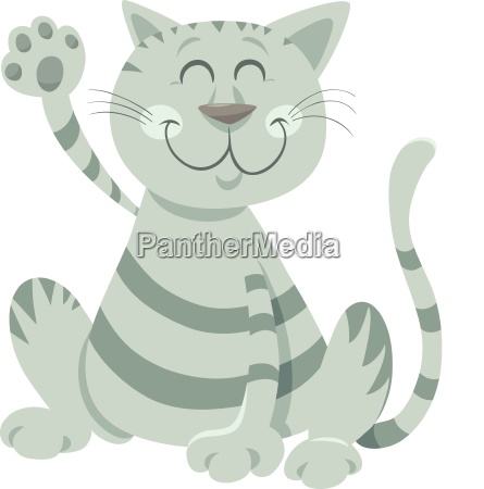 funny tabby cat cartoon animal character