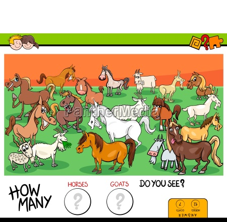 counting horses and goats educational game