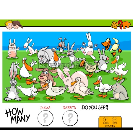 counting ducks and rabbits educational game
