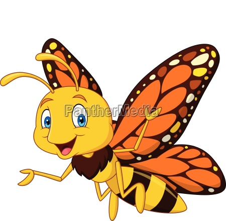 cartoon happy butterfly
