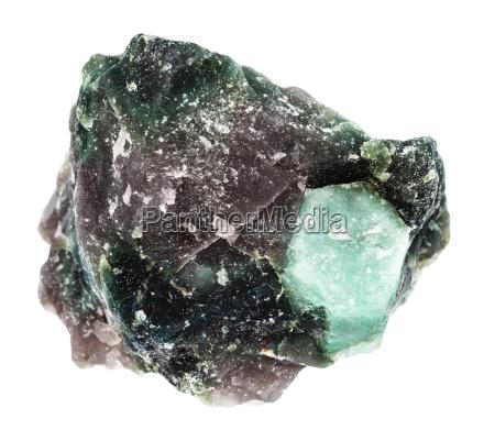 rough crystal of beryl gemstone in