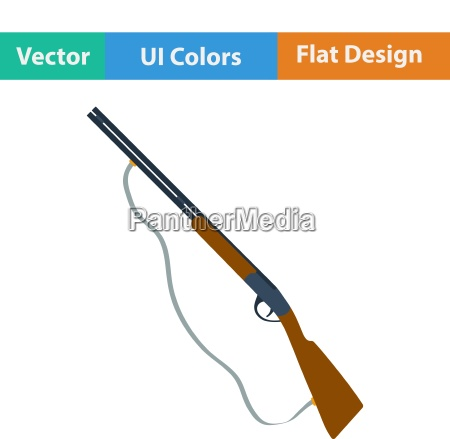 flat design icon of hunting gun