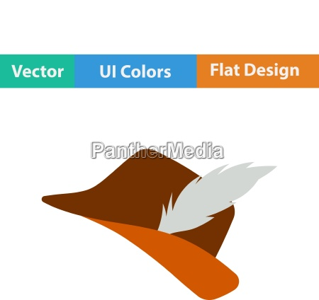 icon of hunter hat with feather