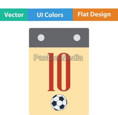 flat design icon of football