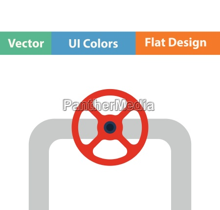 flat design icon of pipe with