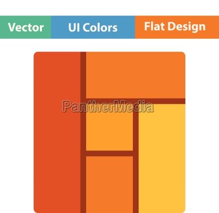 flat design icon of parquet plank