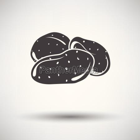 potato icon on gray background