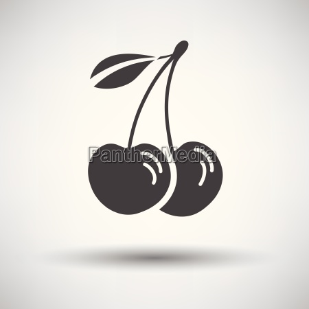 cherry icon on gray background