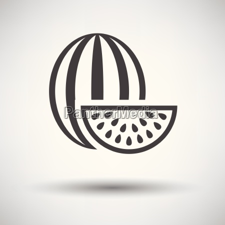 watermelon icon on gray background