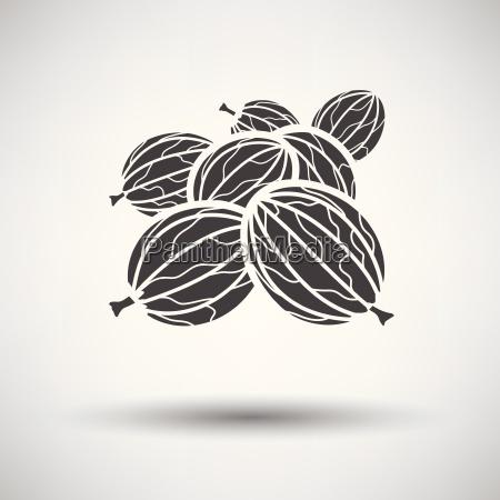gooseberry icon on gray background