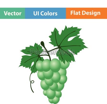 flat design icon of grape