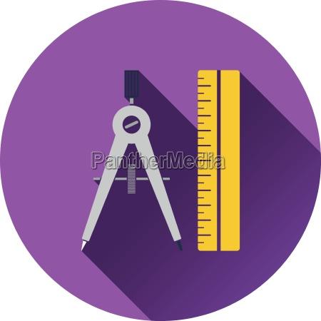 flat design icon of ui