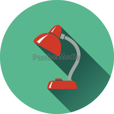 flat design icon of lamp