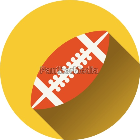 flat design icon of american football