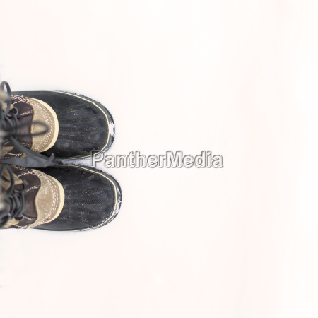 low section of man wearing shoes