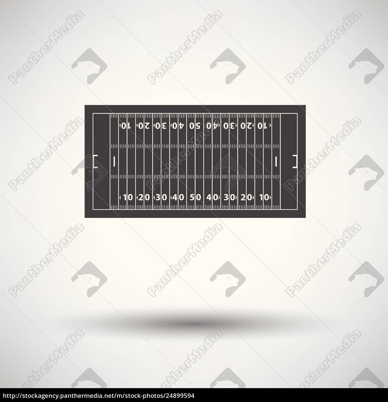 American football field mark icon - Stock image - #24899594