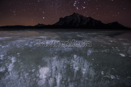majestic view of methane bubbles in