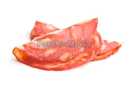 sliced chorizo salami sausage
