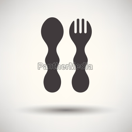 baby spoon and fork icon