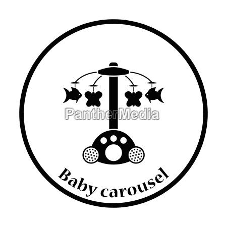 baby carousel icon