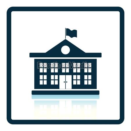icon of school building