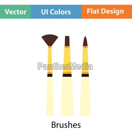 paint brushes set icon