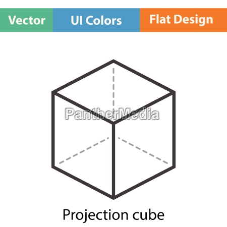 cube with projection icon