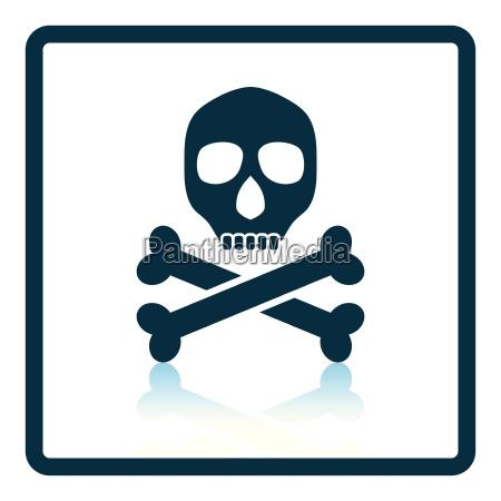 poison sign icon