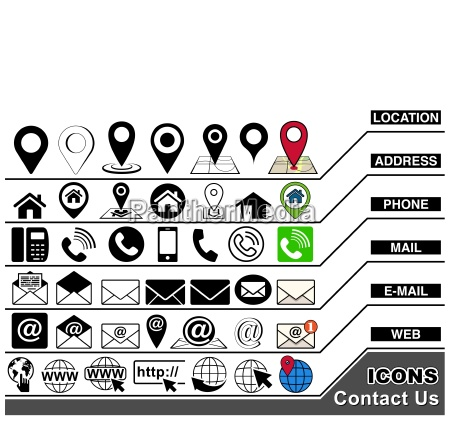 contact us icons collection