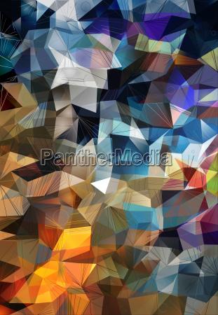 polygonal vibrant color background