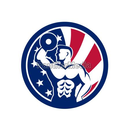 american fitness gym usa flag icon