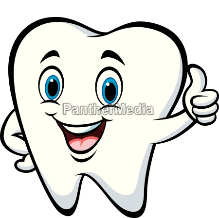 cartoon tooth giving thumb up