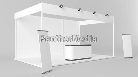 white creative exhibition stand design booth