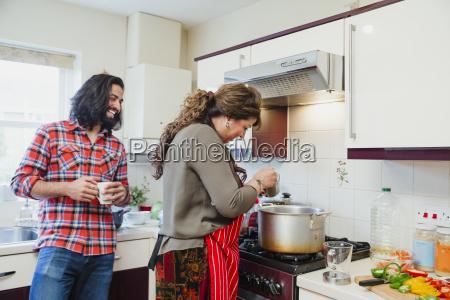 keeping mum company while she cooks
