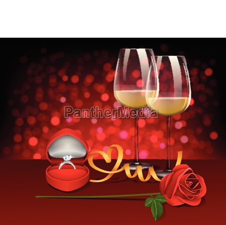romantic celebration of valentines day with