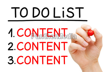content to do list concept