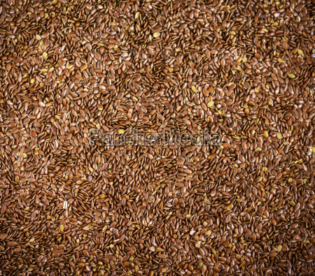 flax seeds top view full frame