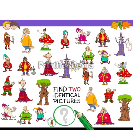 find two identical characters game for