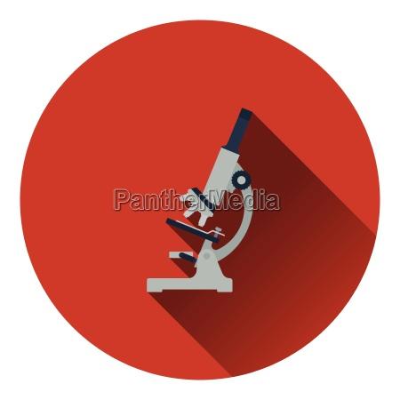 icon of chemistry microscope