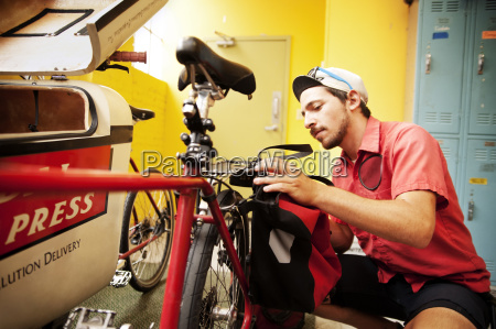 man working at workshop
