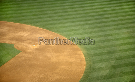 high angle view of second base