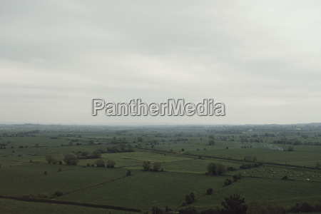 view of idyllic green landscape against