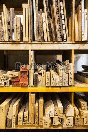 large selection of wooden planks and