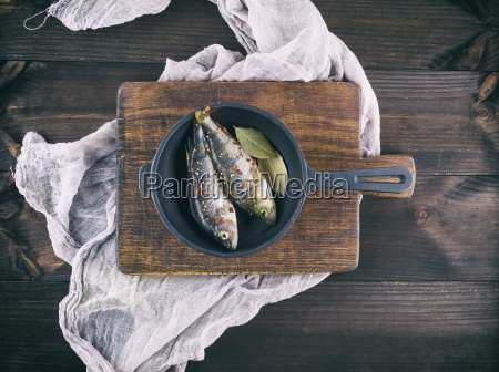 two fresh fish perch with spices