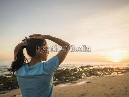 usa california newport beach woman exercising