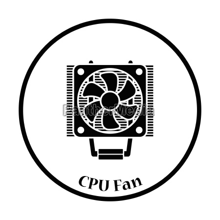 cpu fan icon vector illustration