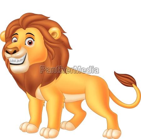happy lion animal