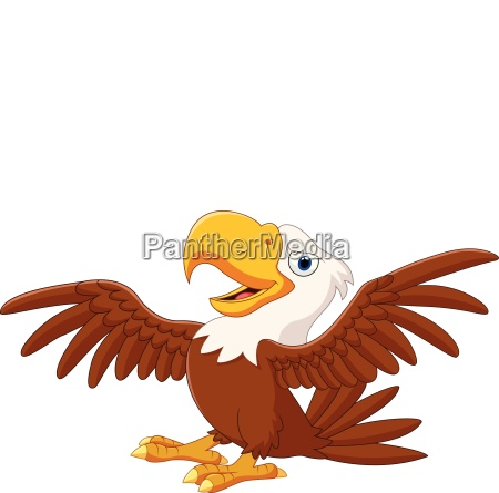 cartoon funny eagle flying
