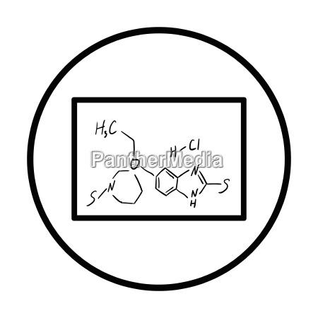 icon of chemistry formula on classroom